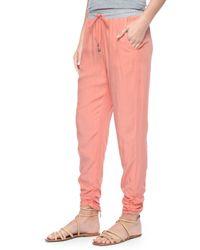 Splendid | Pink Rouched Leg Trouser | Lyst