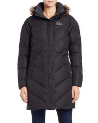 Helly Hansen | Black Aden Faux Fur-trimmed Puffy Parka | Lyst