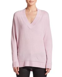 Vince | Purple Pointelle Cashmere Sweater | Lyst