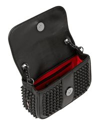 Christian Louboutin Black Sweety Charity Mini Spiked Leather Shoulder Bag