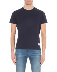 Armani Jeans | Blue City Cotton-jersey T-shirt for Men | Lyst