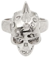 Alexander McQueen - Metallic Small Silver-tone Skull Ring - Lyst