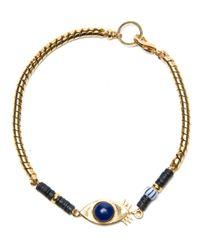 Lizzie Fortunato Blue Evil Eye Bracelet