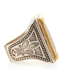 Konstantino | Metallic Diamond Pave Square Ring | Lyst