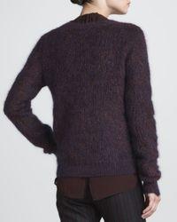 A.L.C. - Purple Halls Fuzzy Knit Sweater Xsmall - Lyst