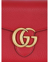 Gucci | Red Small Interlocking Cellarius Leather Bag | Lyst