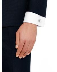Lanvin | Metallic Brushed Rhodium Cufflinks for Men | Lyst