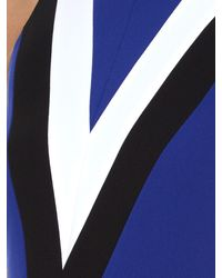 Altuzarra - Blue Klein Chevron-Print Dress - Lyst
