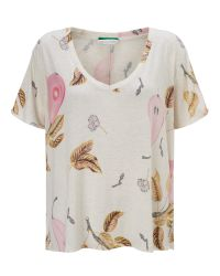 Maison Scotch Natural All-over Printed T-shirt