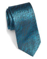 Bugatchi - Blue Pattern Silk Tie for Men - Lyst