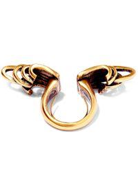 Oscar de la Renta - Metallic Gold-plated Curve Ring - Lyst