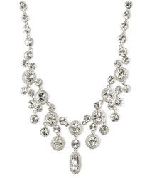 Givenchy - Metallic Silver-tone Crystal Statement Necklace - Lyst