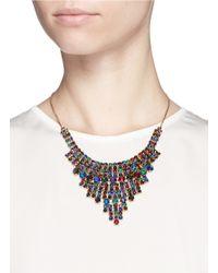 Erickson Beamon - Multicolor 'hyperdrive' Swarovski Crystal Tiered Drop Necklace - Lyst