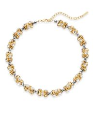 Saks Fifth Avenue | Metallic Beaded Sparkle Section Necklace | Lyst