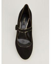 Dolce & Gabbana Black Embellished Heel Pumps