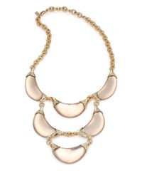 Alexis Bittar | Metallic Vert D'Eau Lucite & Crystal Crescent Tiered Bib Necklace | Lyst
