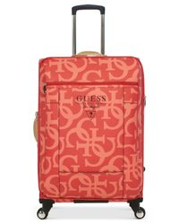 "Guess - Pink Thurston 29"" Spinner Suitcase for Men - Lyst"