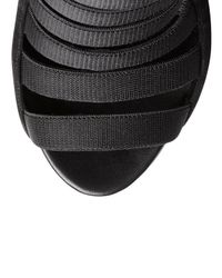 Gucci - Black Olimpia Elastic Ladder Strap Bootie - Lyst
