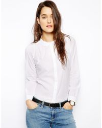 Jack Wills - White Shirt with Curved Collar - Lyst