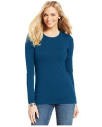 Style & Co. | Blue Basic Long-sleeve Tee | Lyst