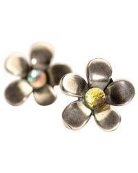 Trollbeads | Metallic Sterling Silver Flower Earrings | Lyst