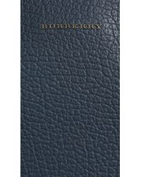 Burberry Blue Signature Grain Leather Briefcase for men
