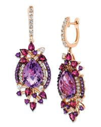 Le Vian | Pink Amethyst And 14k Strawberry Gold Drop Earrings | Lyst