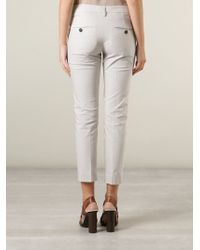 Brunello Cucinelli - Natural Cropped Trousers - Lyst