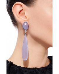 Sidney Garber | Purple Chalcedony Drop Earrings | Lyst