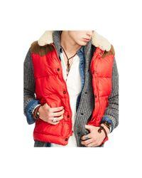Denim & Supply Ralph Lauren - Red Down-filled Shell Vest for Men - Lyst