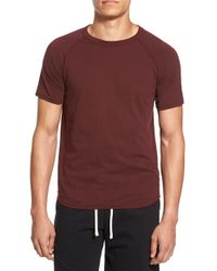 Steven Alan - Red Crew-Neck Jersey T-shirt for Men - Lyst