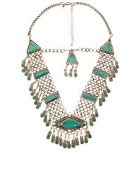 Natalie B. Jewelry | Green Haya Necklace | Lyst