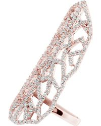 Carat* | Metallic Indira Heroines Rose Gold Finish Ring | Lyst