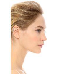 House of Harlow 1960 | Metallic Equator Ear Cuff - Silver/white | Lyst