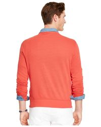 Polo Ralph Lauren - Red Terry Crew-neck Pullover for Men - Lyst