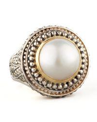 Konstantino Multicolor Mabe Pearl Dome Ring