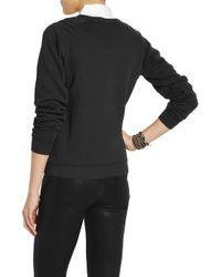 Zoe Karssen Black Grinch Sequined Cottonblend Jersey Sweatshirt