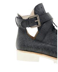 Messeca | Black Monroe Flat Boots | Lyst