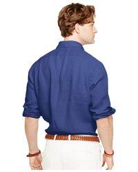 Polo Ralph Lauren Blue Linen Sport Shirt for men