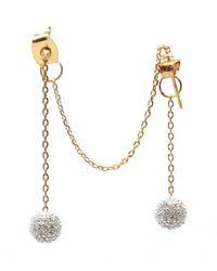 Noir Jewelry - Metallic Billie Dangle Earrings - Lyst