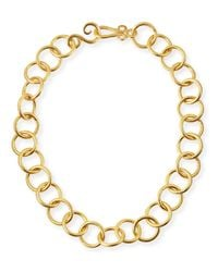 Stephanie Kantis | Metallic 24k Gold-plated Bronze Classic Link Necklace | Lyst