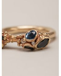 Ruth Tomlinson Blue Sapphire Encrusted Ring