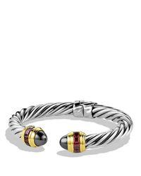 David Yurman | Metallic Renaissance Bracelet With Hematine, Rhodolite Garnet & Gold | Lyst