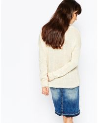 Vero Moda | Natural Zip Back Jumper | Lyst