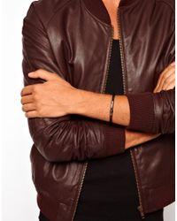 Emporio Armani - Black Logo Bracelet for Men - Lyst