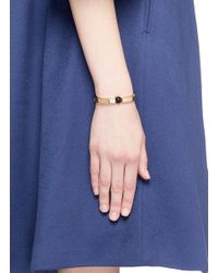 Chloé | Black 'darcey' Swarovski Pearl Bangle | Lyst