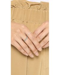 Blanca Monros Gomez - Metallic Two Tone Diamond Band Ring - Gold/clear - Lyst