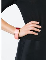 Erika Cavallini Semi Couture   Red Colour Block Bracelet   Lyst