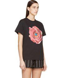 MSGM - Black Rose Print Toiletpaper Edition T_shirt - Lyst