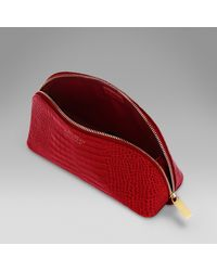 Smythson - Red Cosmetic Case - Lyst